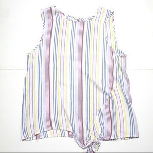 BEACHLUNCHLOUNGE Sunset Stripe Front Tie Top